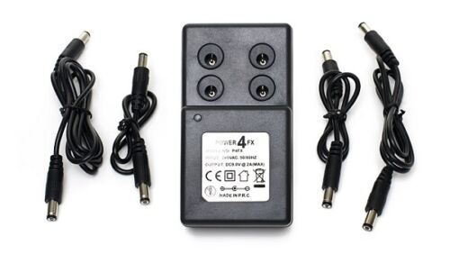 9v guitar pedal power supply adapter adaptor 4 dc cables for boss psa 240 psu ebay. Black Bedroom Furniture Sets. Home Design Ideas