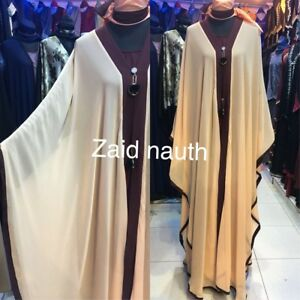 ouvert 2018 size saudi 54 Women robe islamic Wear 56 Dress Abayas devant Nouveau 58 a1ZBwdqa