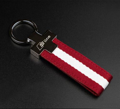 Audi S Line Key Chain Fob A3 A4 A5 A6 A7 A8 TT RS Q7 S LINE LOGO EXCELLENT