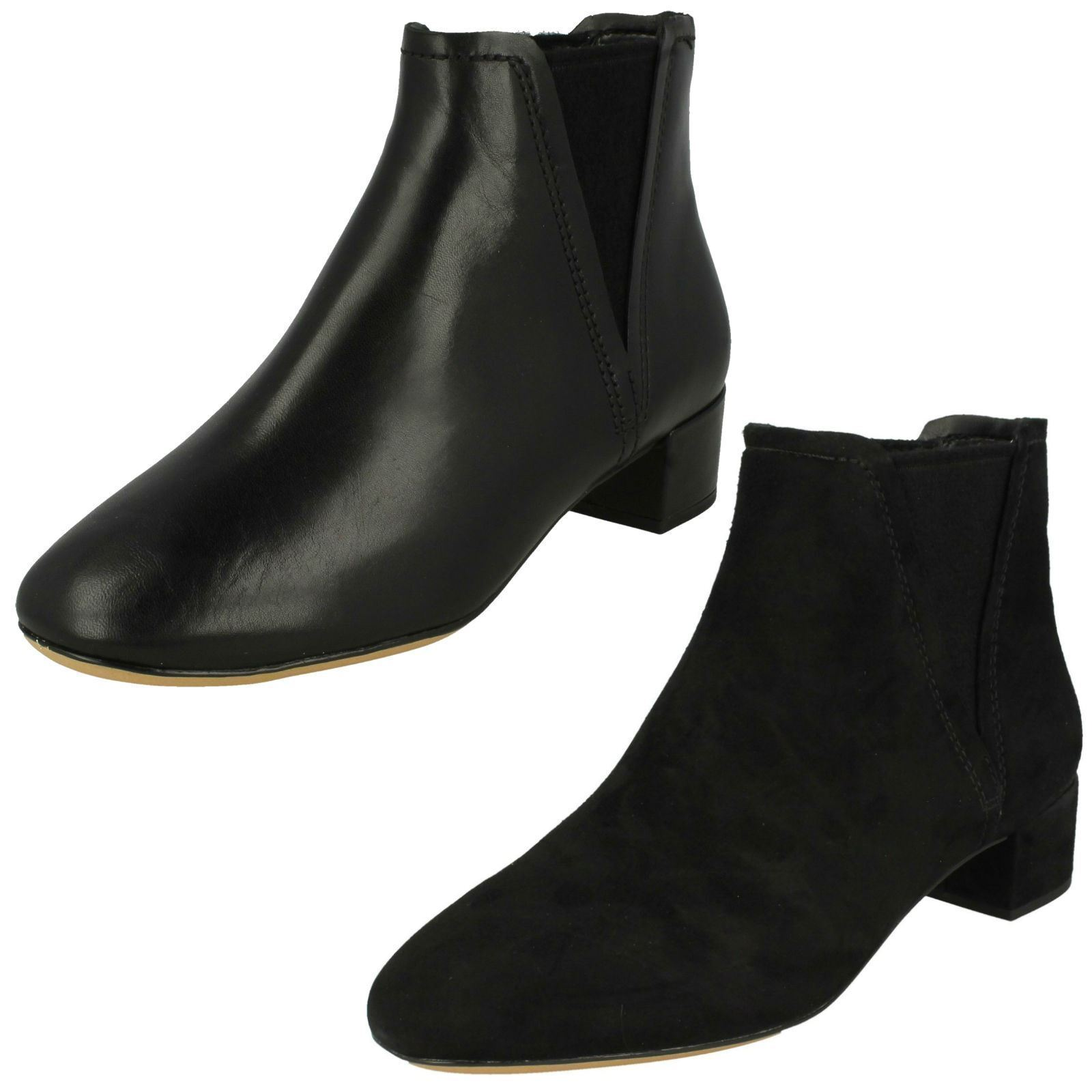 Clarks Ladies Leather Ankle Boots 'Orabella Ruby'