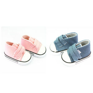 2-Pair-Canvas-Shoes-Sneakers-for-18-039-039-AG-American-Doll-Generation-Doll-Clothes