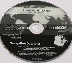 Gm United States Canada Map Disc 2006 2006 CADILLAC CTS V GM NAVIGATION DVD US CANADA OEM 22820294
