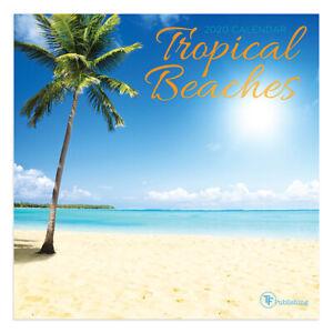 Uf Calendar 2020.Details About 2020 Tropical Beaches Mini Calendar