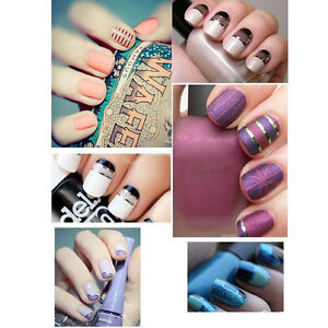 30PCS-MIXED-COLORS-NAIL-ART-TIPS-ROLLS-STRIPING-TAPE-LINE-DECORATION-STICKER-FT