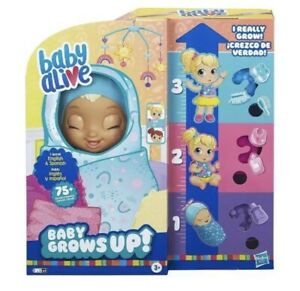 Baby Alive Baby Grows Up Happy Hope or Merry Meadow Growing Doll - In Hand