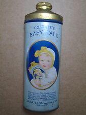 COLGATE'S BABY  TALC TALCUM POWDER VINTAGE DECO TIN