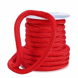 Dockline-Double-Braid-Nylon-Dock-Line-Mooring-Rope-Braided-3-4-Inch-50-Feet-USA