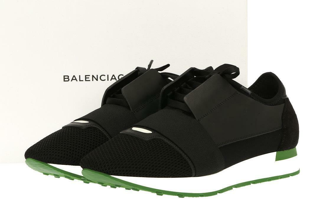 BALENCIAGA RACE RUNNERS CONTRASTED SNEAKERS SHOES FR 41 US 8
