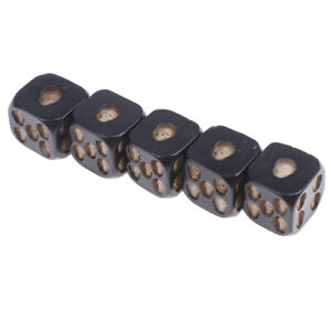 New-Black-Color-5-Pcs-Set-Creative-Game-Cube-Dice-Role-Playing-DiceJ-JMHYT