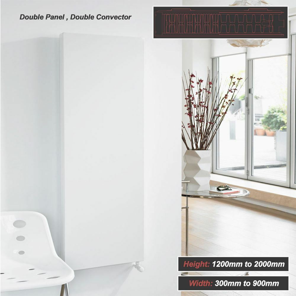 Ultraheat Flat  Planal  Weiß Grünical Radiators Double Panel Double Convector