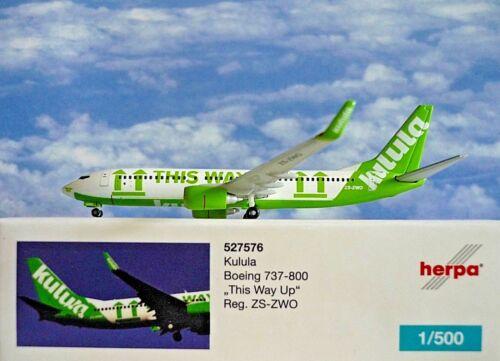 Herpa Wings 1:500 Boeing 737-800  Kulula ZS-ZWO  527576  Modellairport500
