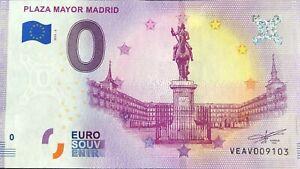 BILLET-0-EURO-PLAZA-MAYOR-MADRID-ESPAGNE-2019-2-NUMERO-DIVERS