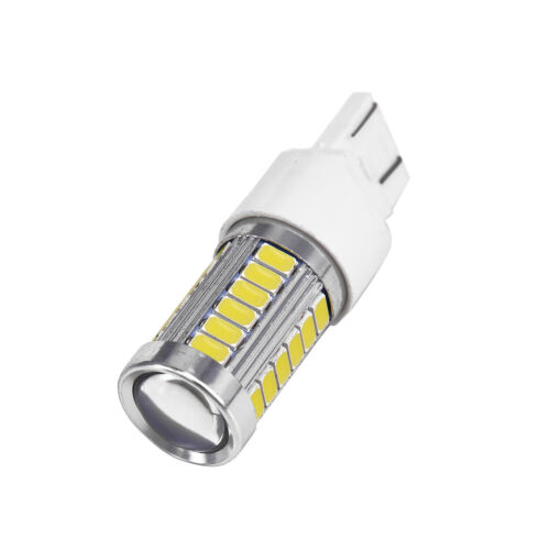 2x T20 W21//5W 7443 7440 33SMD Car Backup Reverse LED Light Bulbs White 6000K AU