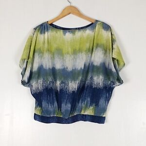 Halogen Silk Blend Dolman Sleeve Blouse Sz XS