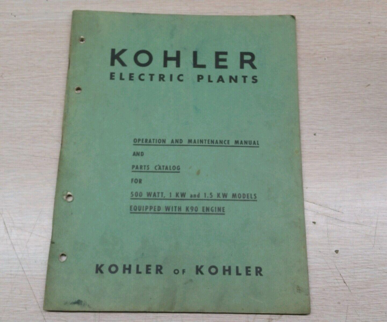 Vintage adgreenising kohler brochure k90 motor snowmobile maintenance manual