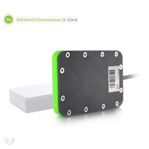 Details about DL533N CS - NFC RFID LibNFC Reader Writer FREE SDK + 5  cards/key fobs