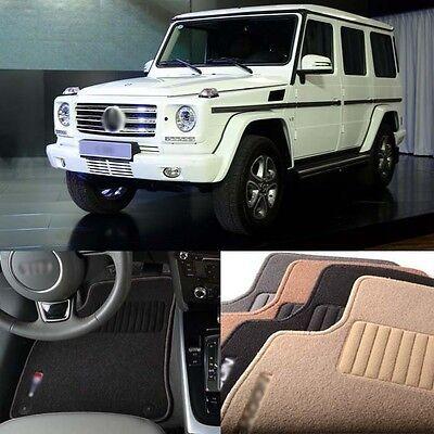 5pcs Premium Auto Fabric Nylon Anti-slip Floor Mats Carpet For BENZ G Class