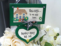 W01 Personalised New Home, House Warming, Moving House, Family gift plaque