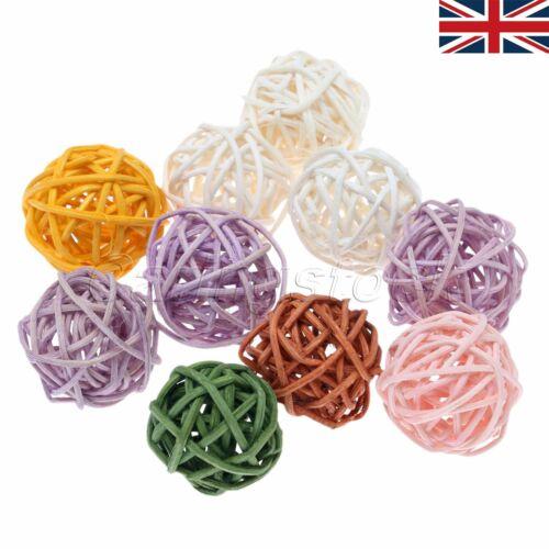 UK STOCK 10//50Pcs Multicolor Rattan Balls Wedding Party Festival Light Ornament