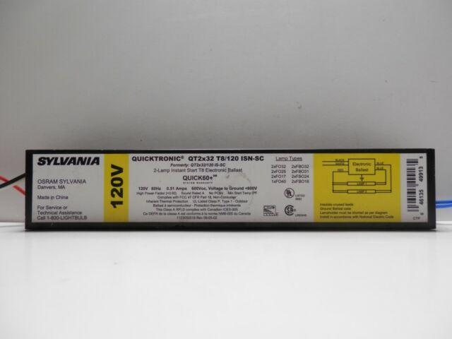 New Sylvania Quicktronic 2-Lamp Instant Start T8 Electronic Ballast 277V 60Hz,