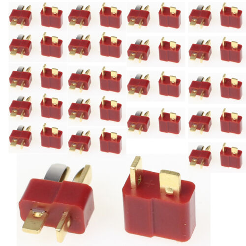 1 of 1 - 40Pcs 20 Pairs T Plug Male & Female Deans Connectors Style For RC LiPo Battery