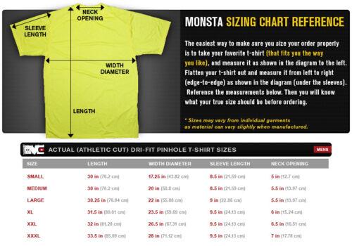 Dry Fit Workout Tee NEW Men/'s Monsta Clothing Cross Training Dri Black