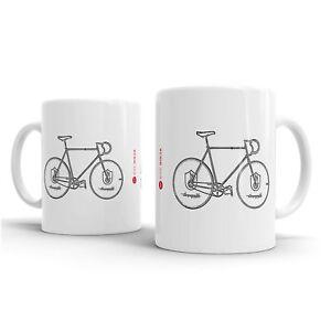 Bike Ninja Retro Classics 1990 Merlin Hegg Campagnolo Track Bike Mug