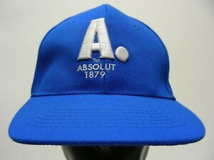 absolut - 1879 - royal blue - adjustable snapback ball cap hat! 1125798cbaa