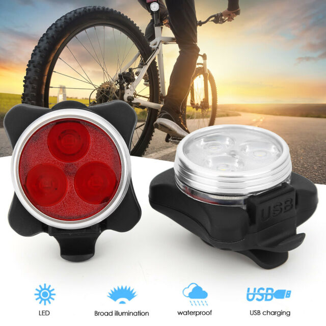 Bike Red USB Charging LED Tail Light Waterproof Rear Lamp for MTB Bicycle