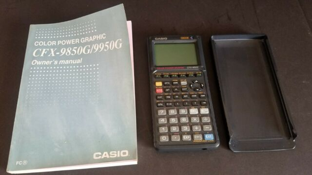 TESTED GOOD Casio CFX-9850G Color Power Graphic 32KB CALCULATOR With Manual