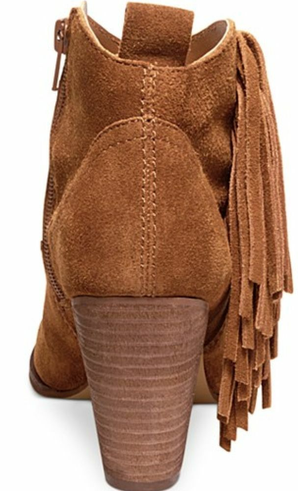 NEW STEVE MADDEN OHIO CHESTNUT SUEDE ANKLE Donna BOOTS Donna ANKLE 8.5 W/FRINGE dee5ab