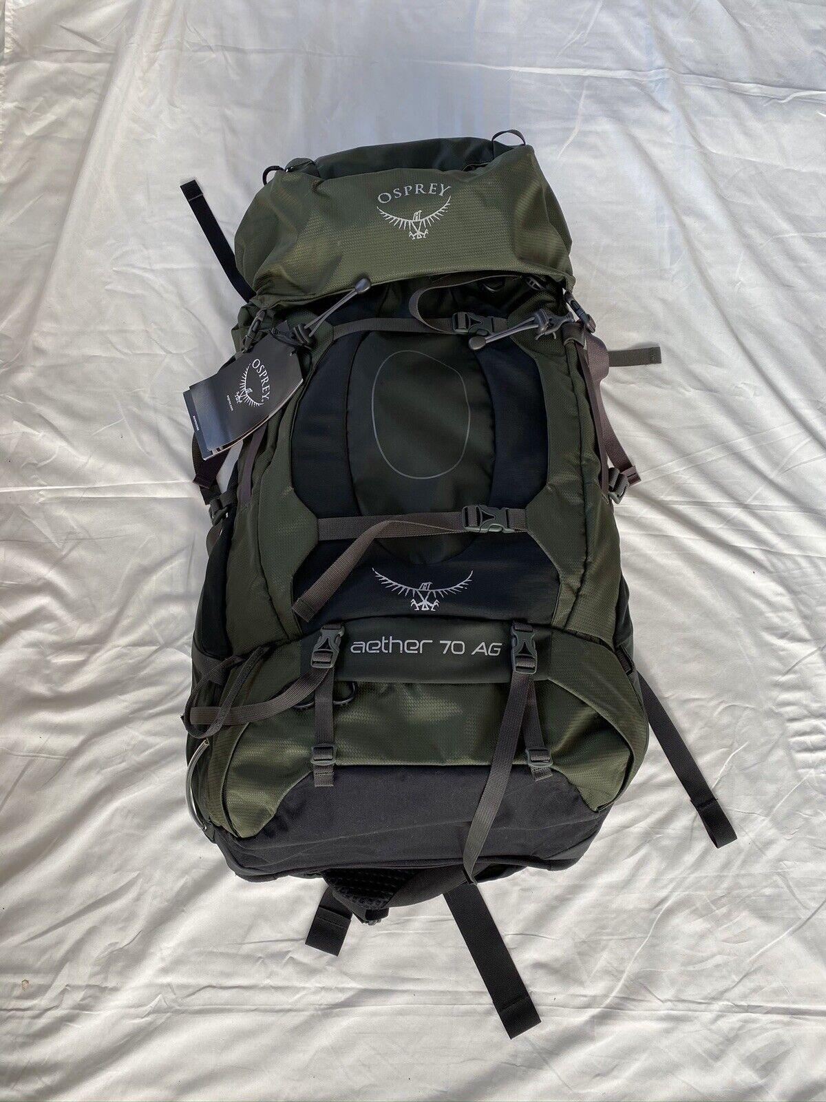 Osprey Packs Aether AG 70 Liter Men Medium Backpacking Backpack Retail  310