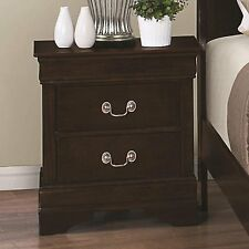 Coaster Louis Philippe Nightstand With 2 Drawers in Cappuccino | eBay