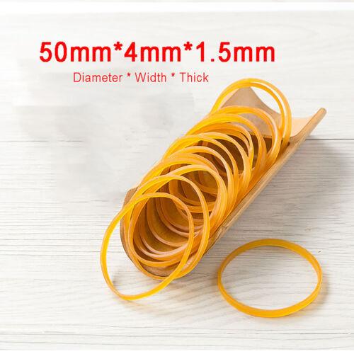500g Gelb Gummiringe  50mmX4mmX1.5mm Natur Gummibänder Gummiband Haushaltsgummis