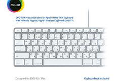 English Russian Keyboard Stickers | Mac | GLARE-FREE VINYL Stickers!