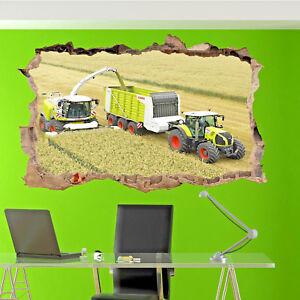 Combine Harvester Tractor Wall Sticker 3d Art Poster Decal Mural Room Office SR3