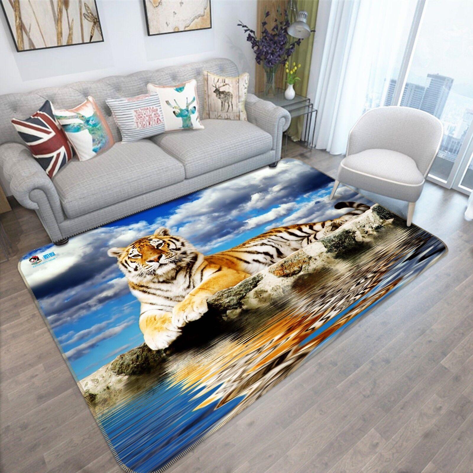 3d TIGRE MARE CIELO 894 antiscivolo tappeto tappetino bagagliaio tappeto elegante de