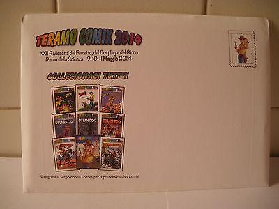Teramo Comix 2014 Ventiduesima edizione 9 cartoline ricordo di Teramo Comix.
