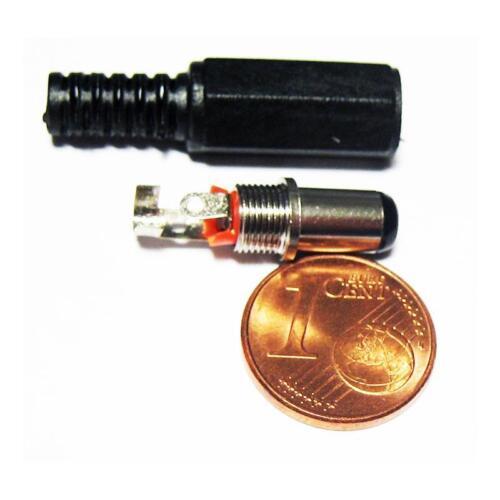 1 Paar DC-Steckverbinder 2,5x5,5mm Kupplung Stecker Hohlstecker Hohlkupplung
