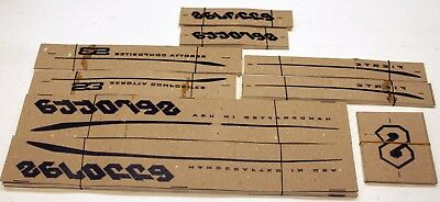 Genuine NOS BLACK Serotta Fierte Ultra Thin Bike Frame Decals OEM Sticker Set