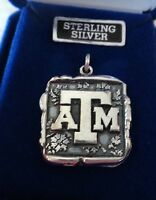 20x22mm Square Texas A&m University Atm Aggie Sterling Silver Wax Seal Charm