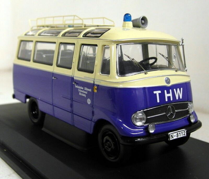 Schuco 1/43 SCALA 02813 MERCEDES BENZ O 319 THW Modello Diecast Minibus