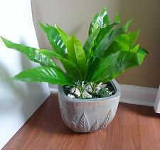 """2 x 12 """" Tall Small Palm Tree Artificial Plants Bush Lifelike Leaves"""
