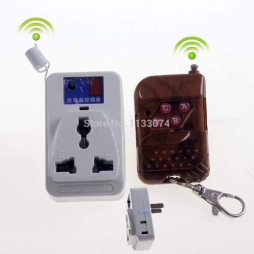 Wireless RF Remote Control 110-220V Power Switch Plug Outlet 2Socket Smart Home