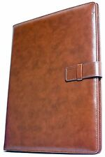 professional leather business resume portfolio folder interview padfolio with