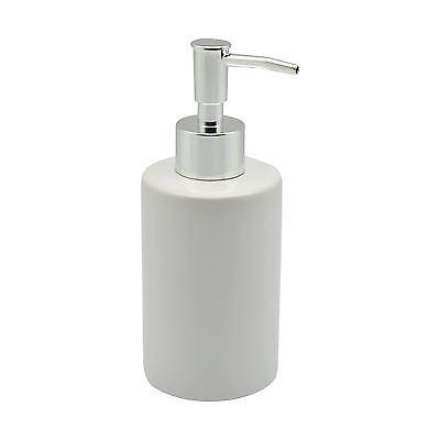 Glazed White Ceramic Soap Pump Dispenser, 280ml