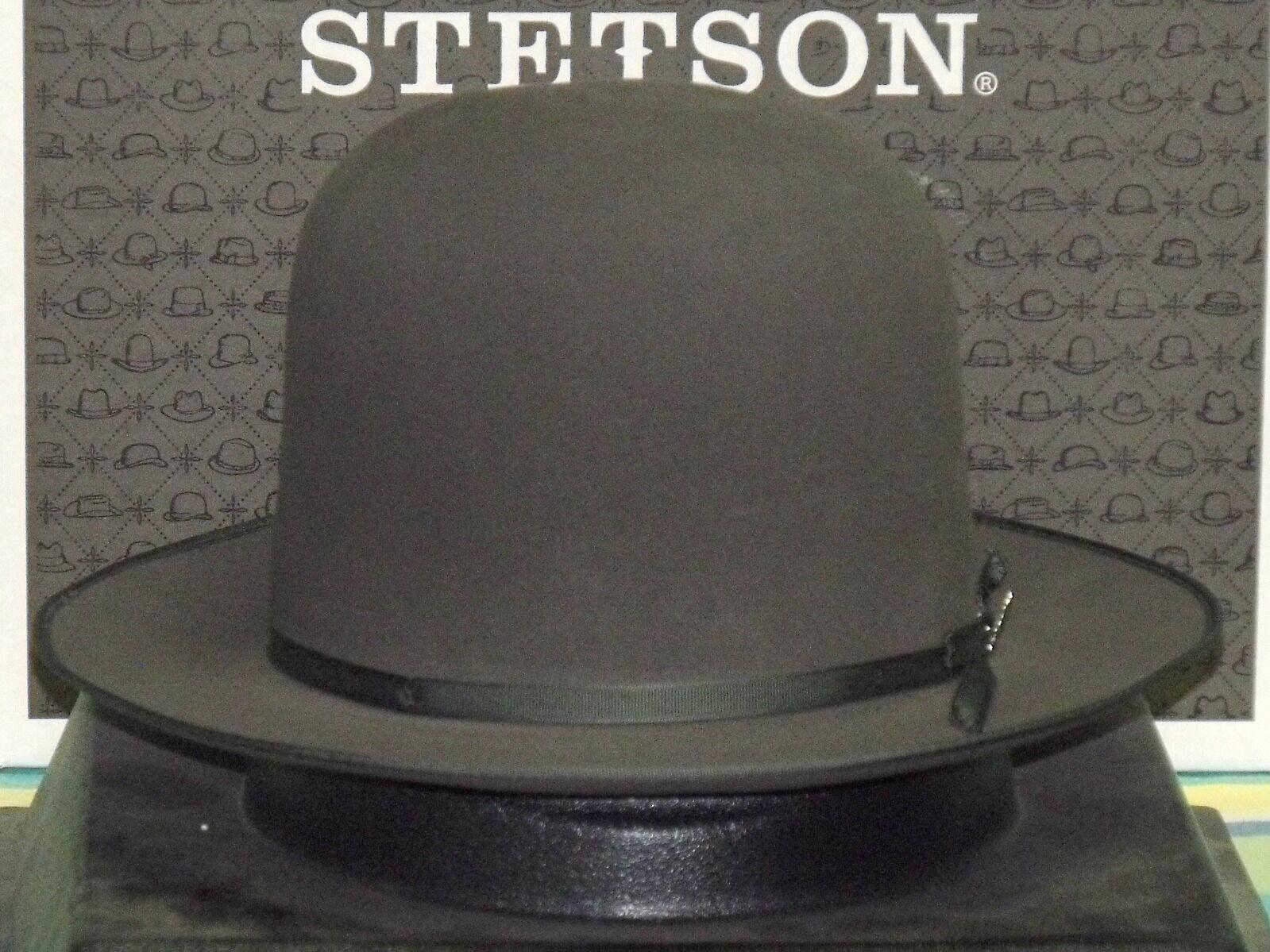 2937b83d Stetson Premier Stratoliner Open Crown Soft Fur Felt Fedora Hat Sage 7 5/8  for sale online | eBay