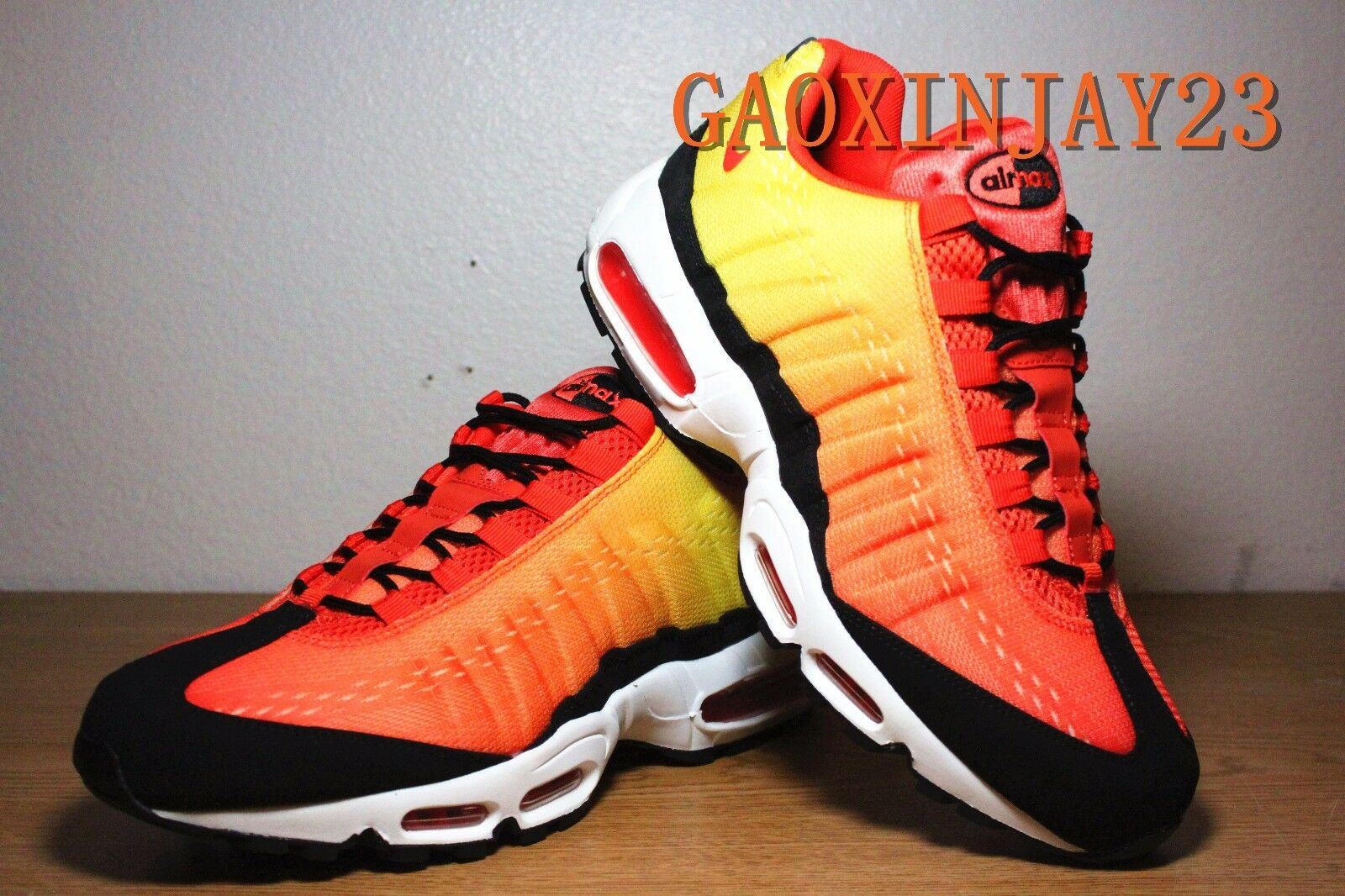NIKE AIR MAX 95 EM  SUNSET PACK  TEAM orange-TOTAL CRIMSON SZ 11 [554971-886]