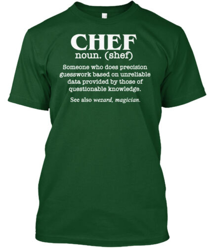 Hanes Tagless Tee T-Shirt Funny Chef Definition Culinary School Artists Cooks