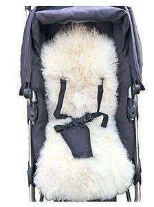 Sheepskin Baby Buggy Liner Stroller Pushchair Pram Lamb